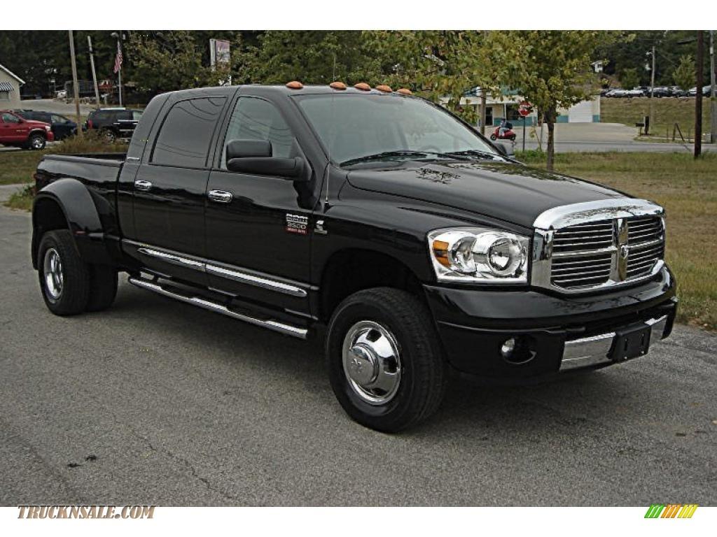 2007 Dodge Ram 3500 Laramie Mega Cab 4x4 Dually In Brilliant Black Crystal Pearl 753501 Truck N Sale