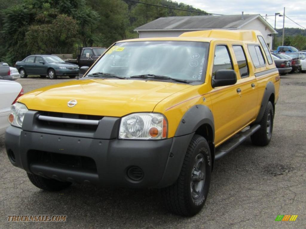 2002 nissan frontier xe crew cab 4x4 in solar yellow photo 2 377891 truck n 39 sale. Black Bedroom Furniture Sets. Home Design Ideas