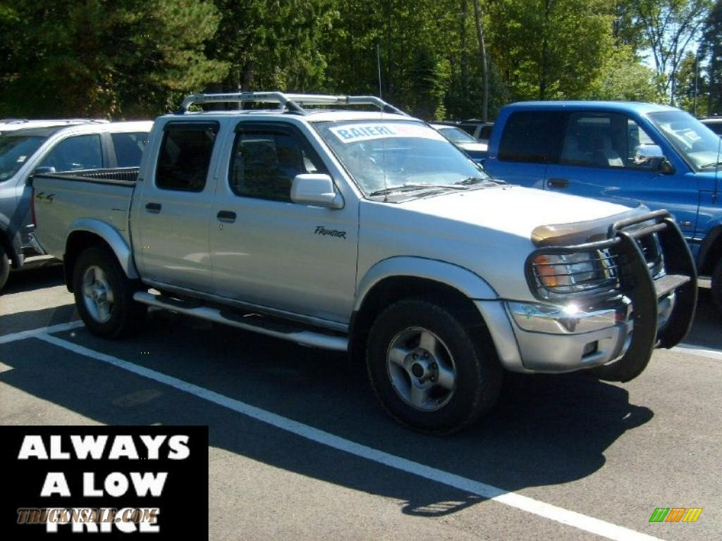 2000 nissan frontier xe crew cab 4x4 in silver ice 358252 truck n 39 sale. Black Bedroom Furniture Sets. Home Design Ideas