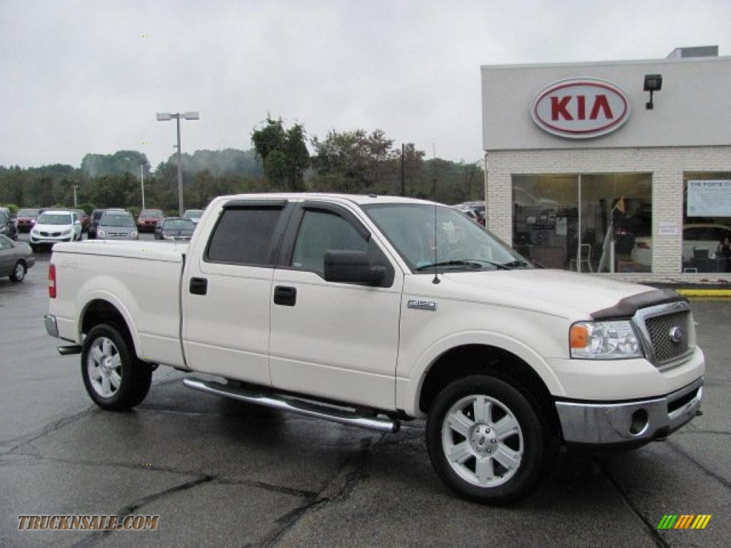 2007 Ford F150 Lariat Supercrew 4x4 In White Sand Tri Coat