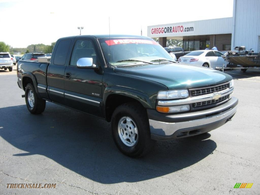 2001 Chevrolet Silverado 1500 LS Extended Cab 4x4 in Forest Green Metallic - 278736 | Truck N' Sale