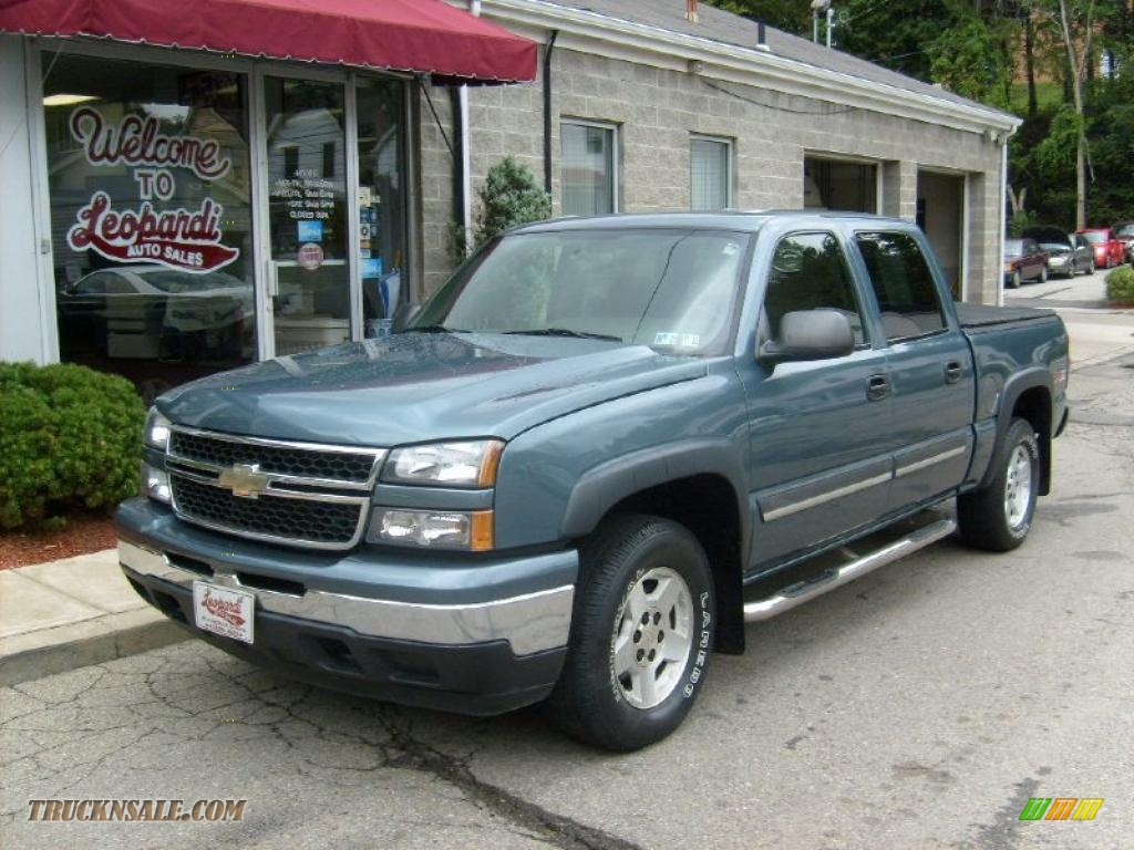 2006 chevrolet silverado 1500 z71 crew cab 4x4 in blue granite metallic 121409 truck n 39 sale. Black Bedroom Furniture Sets. Home Design Ideas
