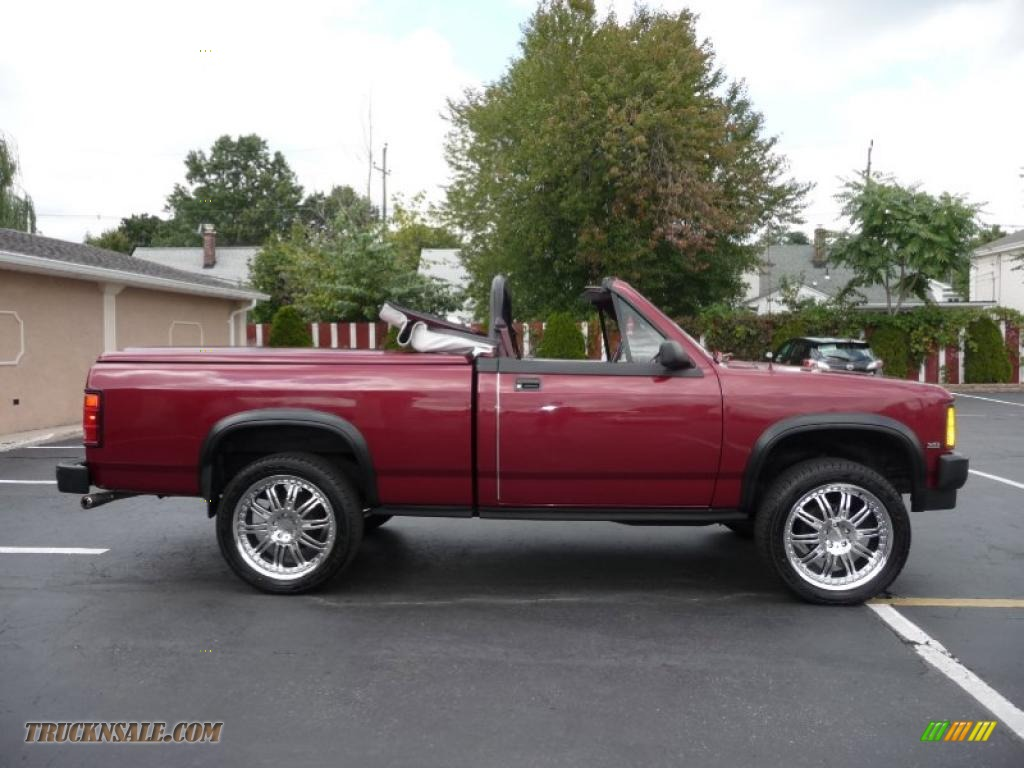 1989 dodge dakota sport regular cab 4x4 custom convertible truck in red photo 10 174201