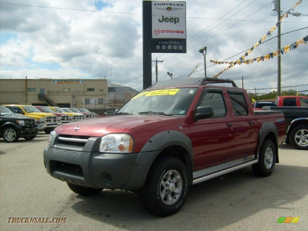 Salsa red metallic gray nissan frontier xe v6 crew cab 4x4