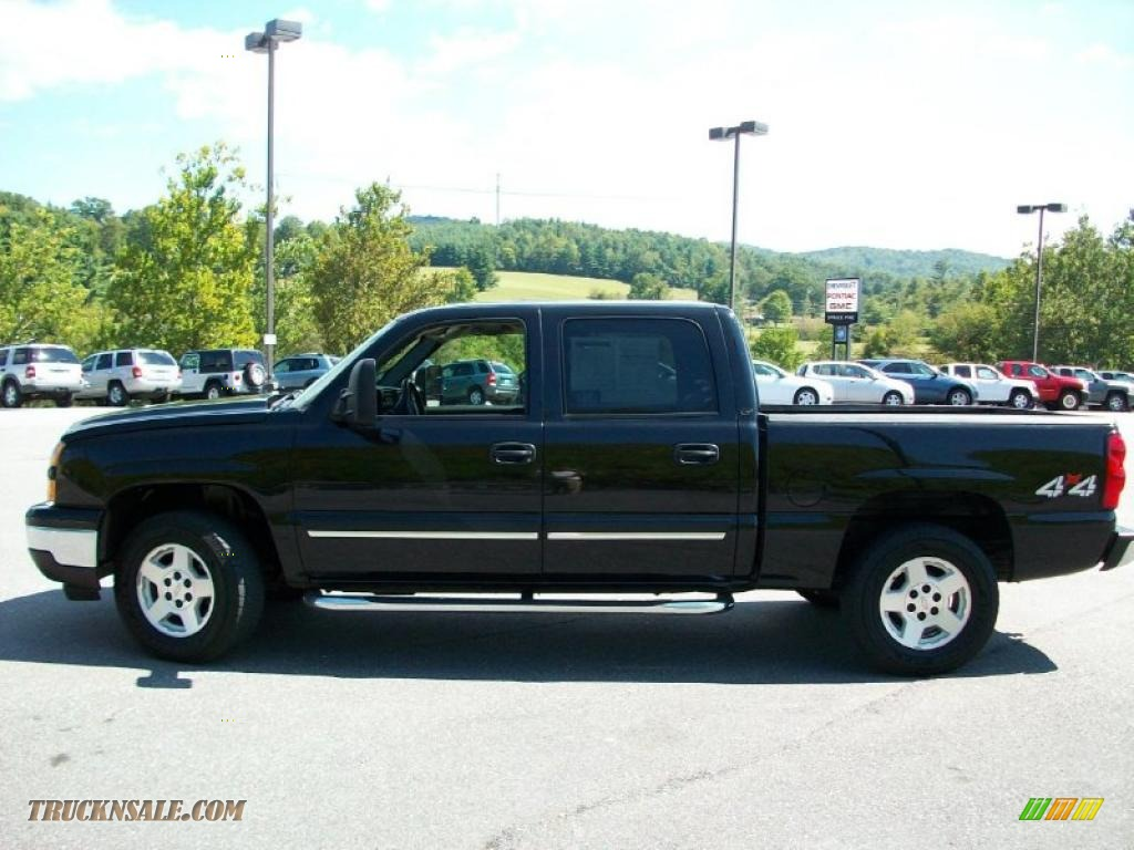2006 chevrolet silverado 1500 z71 crew cab 4x4 in black 128334 truck n 39 sale. Black Bedroom Furniture Sets. Home Design Ideas