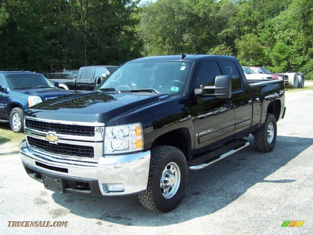 2007 chevrolet silverado 2500hd ltz extended cab 4x4 in black 563548 truck n 39 sale. Black Bedroom Furniture Sets. Home Design Ideas