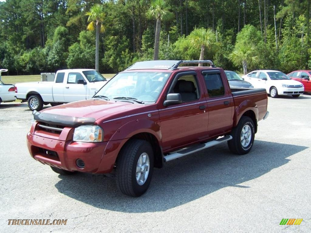 Red brawn metallic gray nissan frontier sc crew cab 4x4