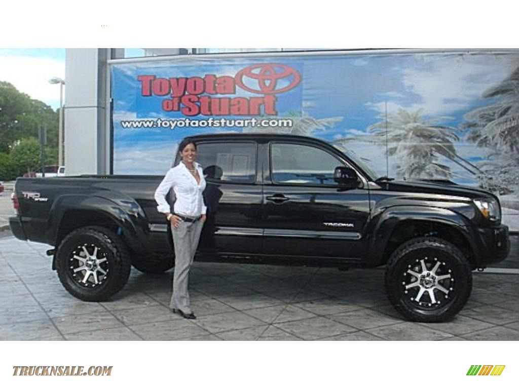2010 Toyota Tacoma V6 SR5 TRD Sport Double Cab 4x4 in Black Sand Pearl