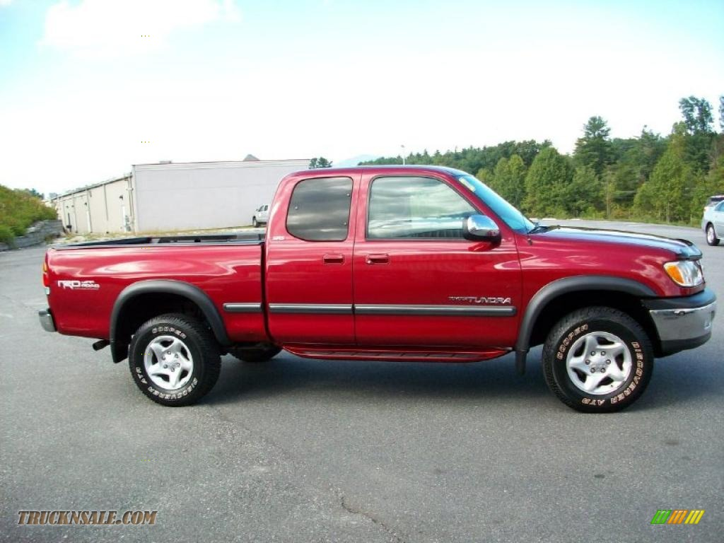 2000 toyota tundra sr5 extended cab 4x4 in sunfire red. Black Bedroom Furniture Sets. Home Design Ideas