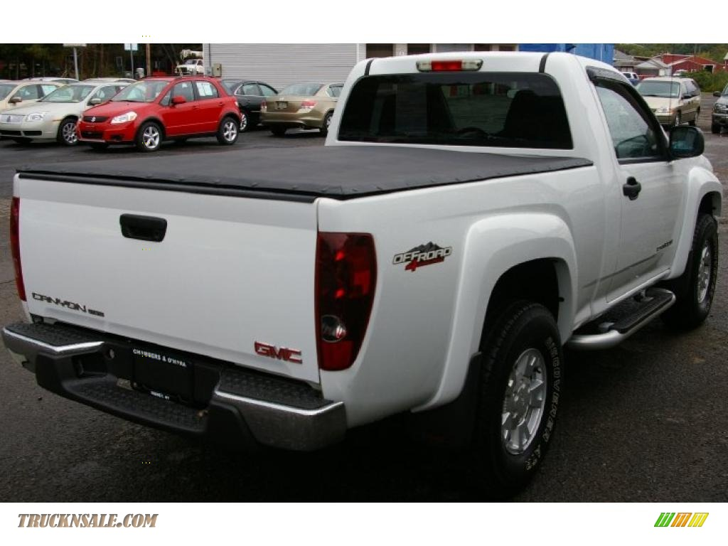 2005 gmc canyon sle regular cab 4x4 in summit white photo. Black Bedroom Furniture Sets. Home Design Ideas
