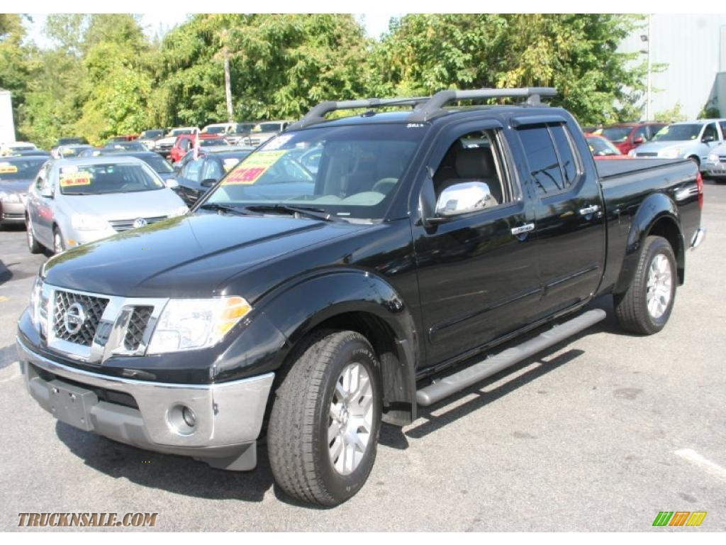 2009 nissan frontier le crew cab 4x4 in super black 411467 truck n 39 sale. Black Bedroom Furniture Sets. Home Design Ideas