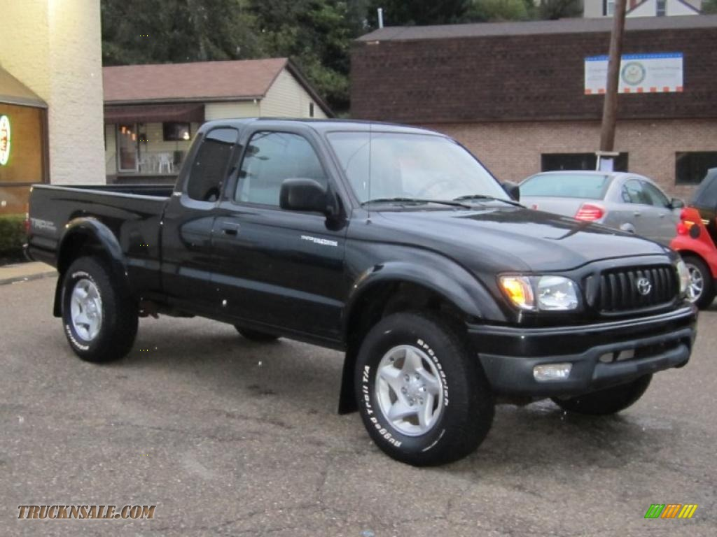 2003 Toyota Tacoma V6 Trd Xtracab 4x4 In Black Sand Pearl