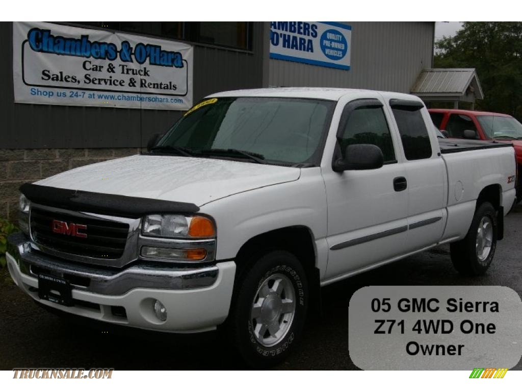 2005 gmc sierra 1500 z71 extended cab 4x4 in summit white photo 3 334518 truck n 39 sale. Black Bedroom Furniture Sets. Home Design Ideas