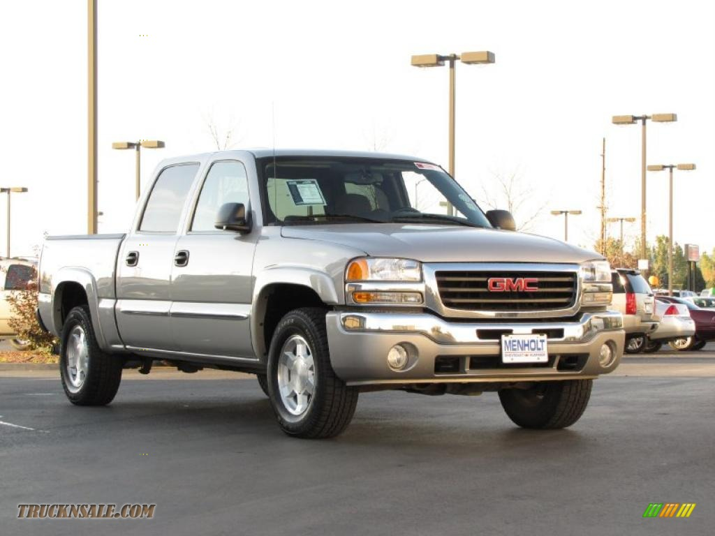 2006 Gmc Sierra 1500 Slt Z71 Crew Cab 4x4 In Silver Birch Metallic Photo 2 167022 Truck N Sale
