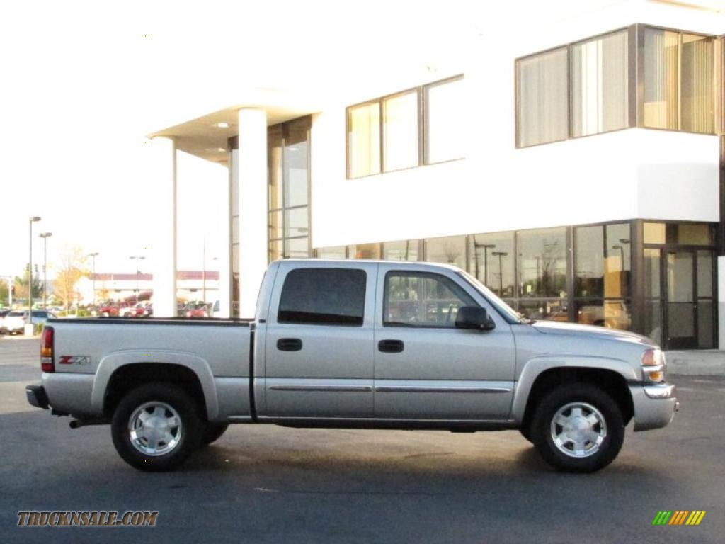 2006 Gmc Sierra 1500 Slt Z71 Crew Cab 4x4 In Silver Birch Metallic Photo 10 167022 Truck N Sale