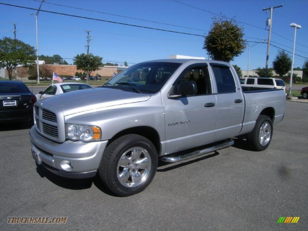 bright silver metallic 2002 dodge ram 1500 sport quad cab 4x4 with car interior design. Black Bedroom Furniture Sets. Home Design Ideas