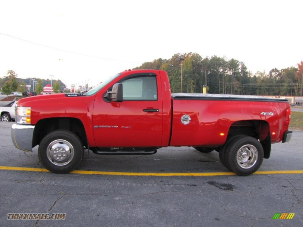 2010 chevrolet silverado 3500hd work truck regular cab 4x4 dually in victory red photo 4. Black Bedroom Furniture Sets. Home Design Ideas