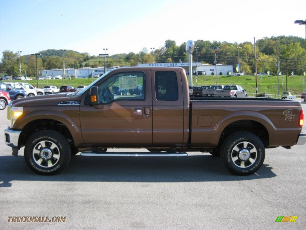 Golden bronze metallic adobe two tone leather ford f250 super duty lariat supercab 4x4