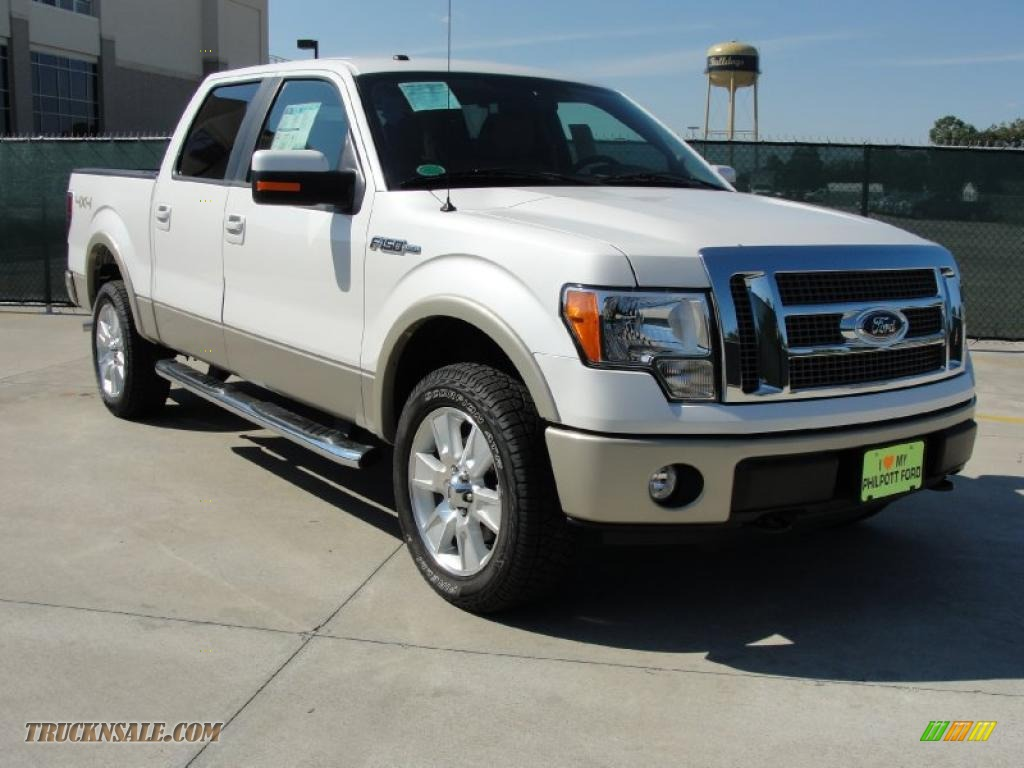 2010 ford f150 lariat supercrew 4x4 in white platinum metallic tri coat c50919 truck n 39 sale. Black Bedroom Furniture Sets. Home Design Ideas