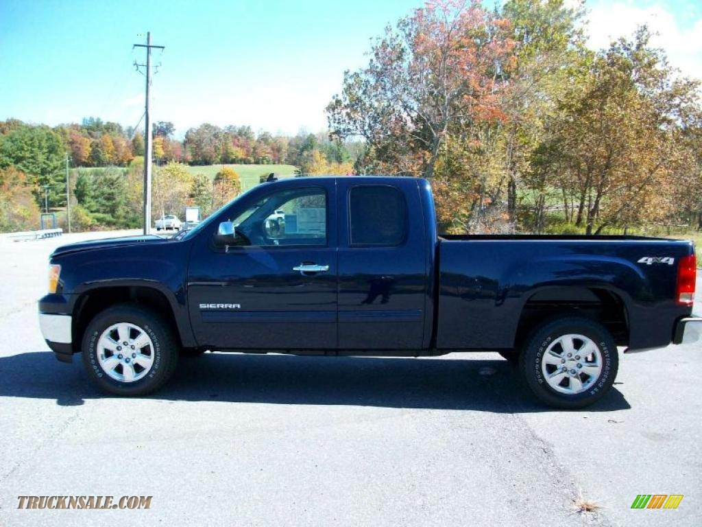 2011 Gmc Sierra 1500 Sle Extended Cab 4x4 In Midnight Blue