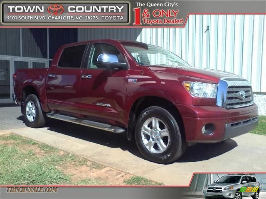 2007 toyota tundra limited crewmax 4x4 in salsa red pearl photo 8 467817 truck n 39 sale. Black Bedroom Furniture Sets. Home Design Ideas