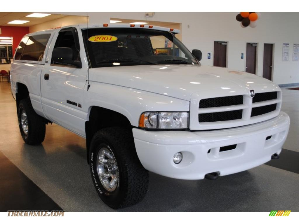2001 Dodge Ram 1500 Sport Regular Cab 4x4 in Bright White photo #9 - 105910 | Truck N' Sale