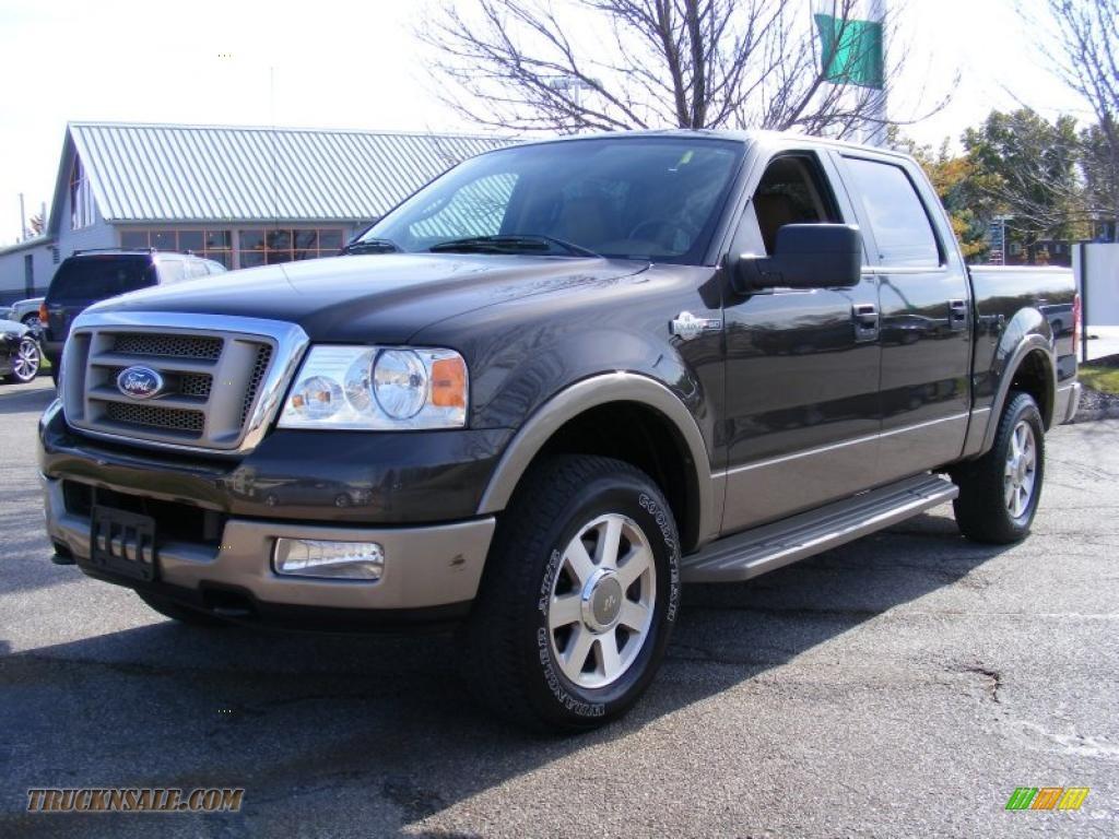 2005 ford f150 king ranch supercrew 4x4 in dark stone metallic f01406 truck n 39 sale. Black Bedroom Furniture Sets. Home Design Ideas