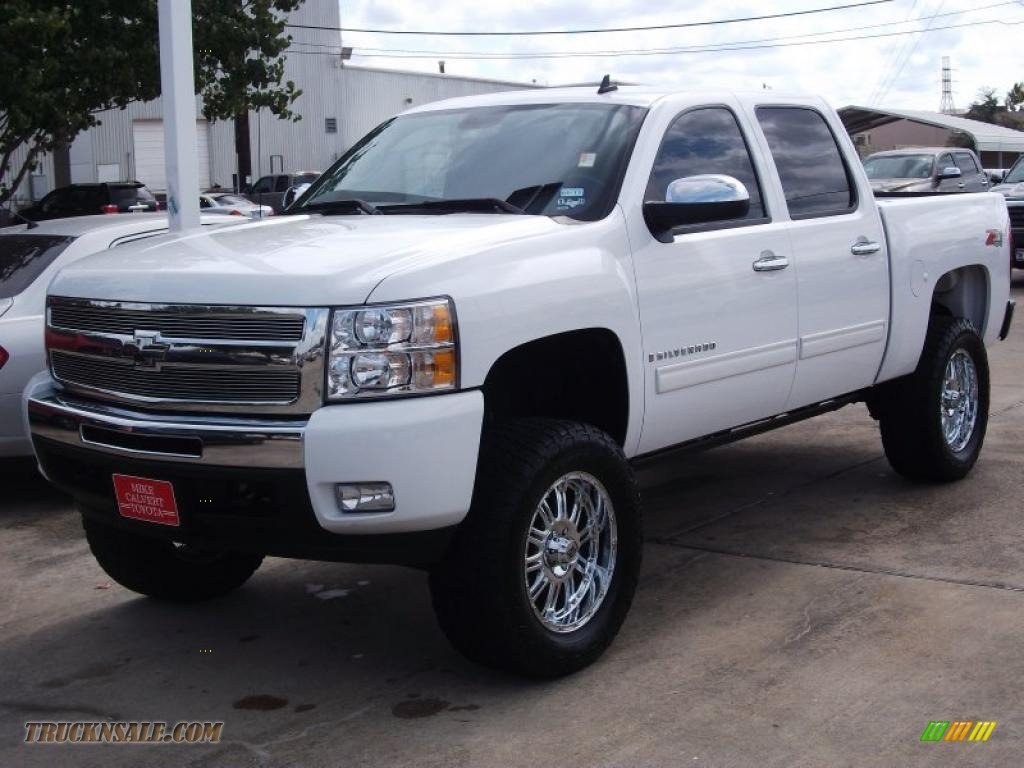 2009 chevrolet silverado 1500 ltz crew cab 4x4 in summit white 175031 truck n 39 sale. Black Bedroom Furniture Sets. Home Design Ideas