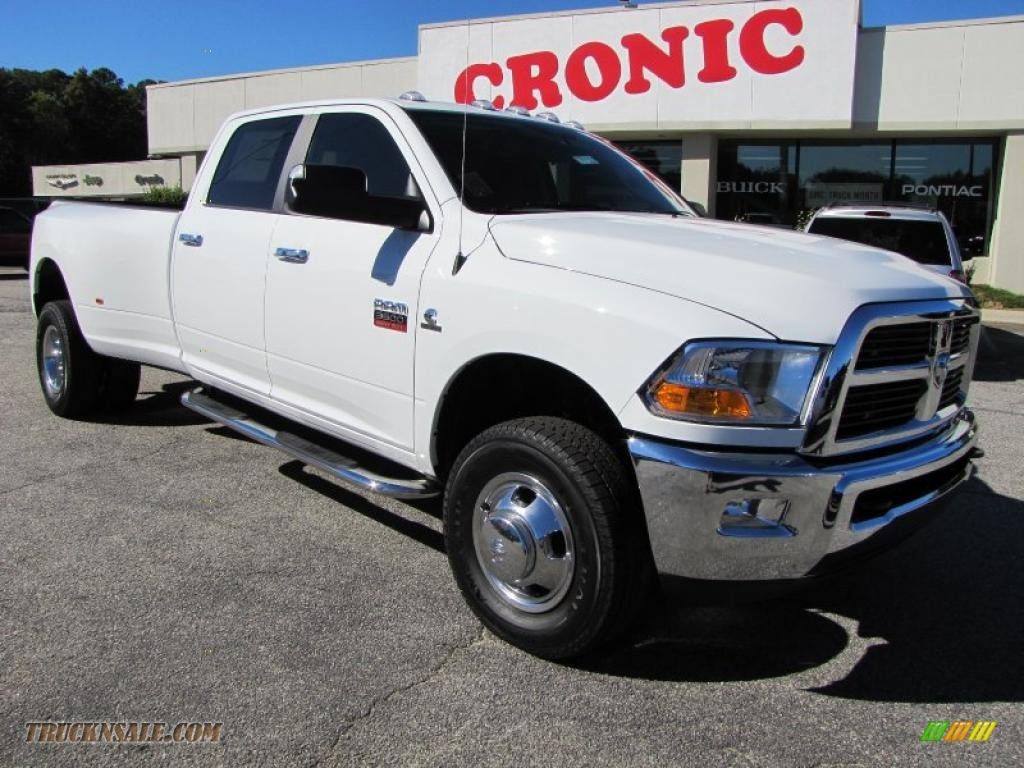 2011 dodge ram 3500 hd slt crew cab 4x4 dually in bright white 524910 truck n 39 sale. Black Bedroom Furniture Sets. Home Design Ideas