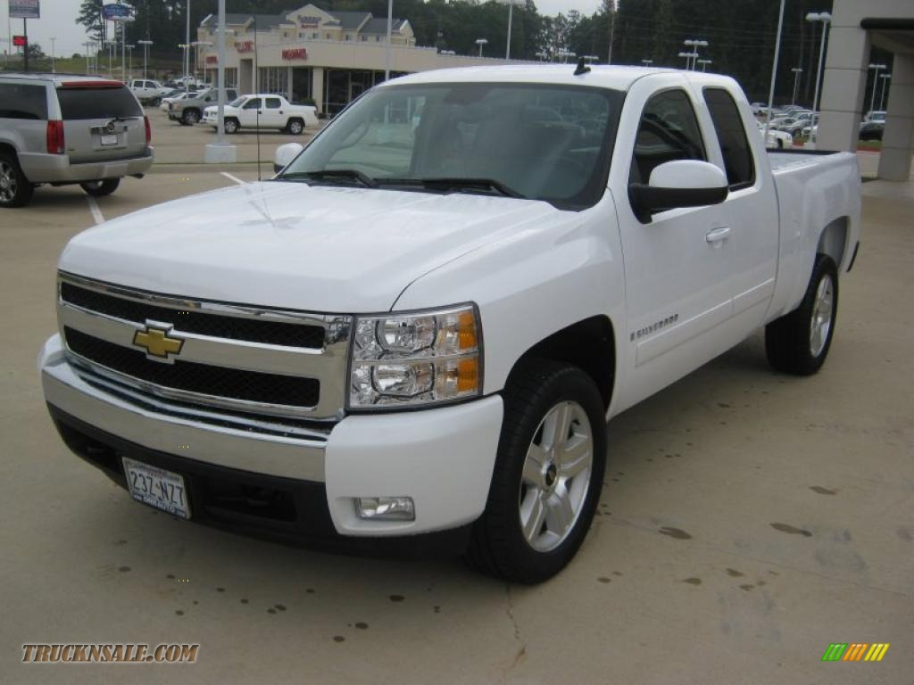 2008 chevrolet silverado 1500 lt extended cab in summit white 148687 truck n 39 sale. Black Bedroom Furniture Sets. Home Design Ideas