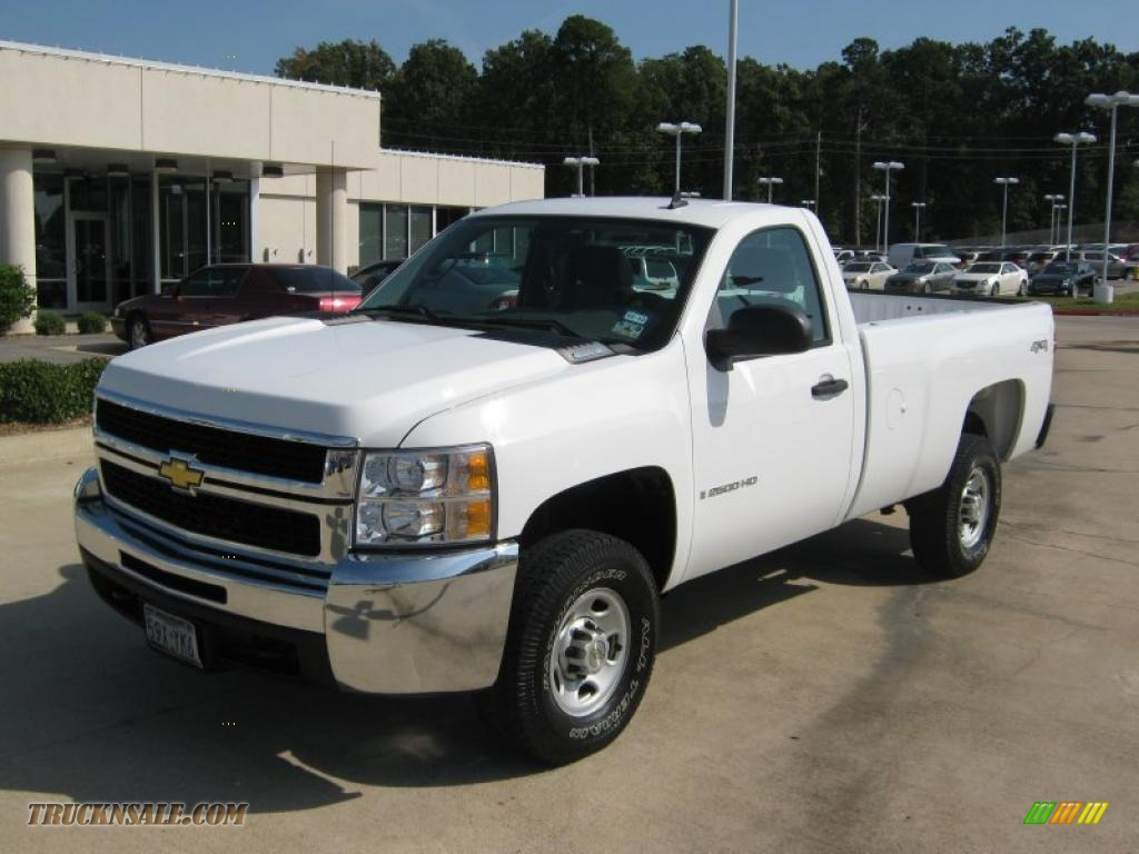 Pine Belt Chevy >> 2007 Chevrolet Silverado 2500HD Work Truck Regular Cab 4x4 in Summit White - 571387 | Truck N' Sale