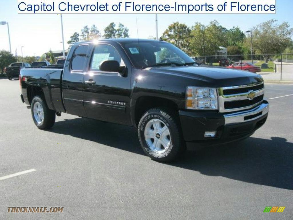 2011 chevrolet silverado 1500 lt extended cab 4x4 in black 184136 truck n 39 sale. Black Bedroom Furniture Sets. Home Design Ideas