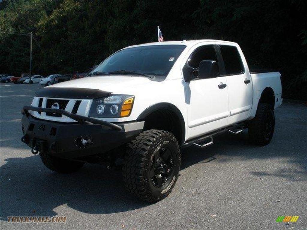2008 nissan titan pro 4x crew cab 4x4 in blizzard white photo 8 339100 truck n 39 sale. Black Bedroom Furniture Sets. Home Design Ideas