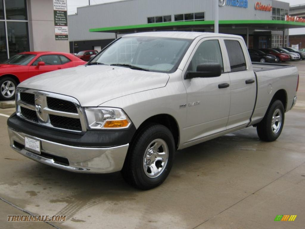 2010 dodge ram 1500 st quad cab 4x4 in light graystone pearl 243835 truck n 39 sale. Black Bedroom Furniture Sets. Home Design Ideas