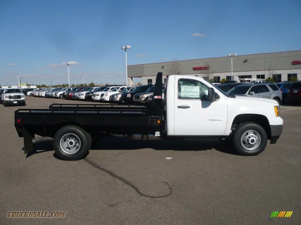 2011 GMC Sierra 3500HD Work Truck Regular Cab 4x4 Flat Bed in Summit ...