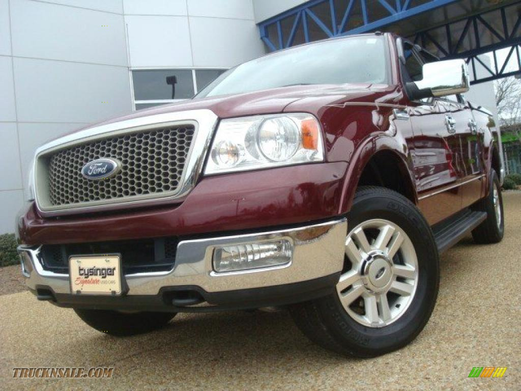 2004 ford f150 lariat supercrew 4x4 in dark toreador red Tysinger motor company