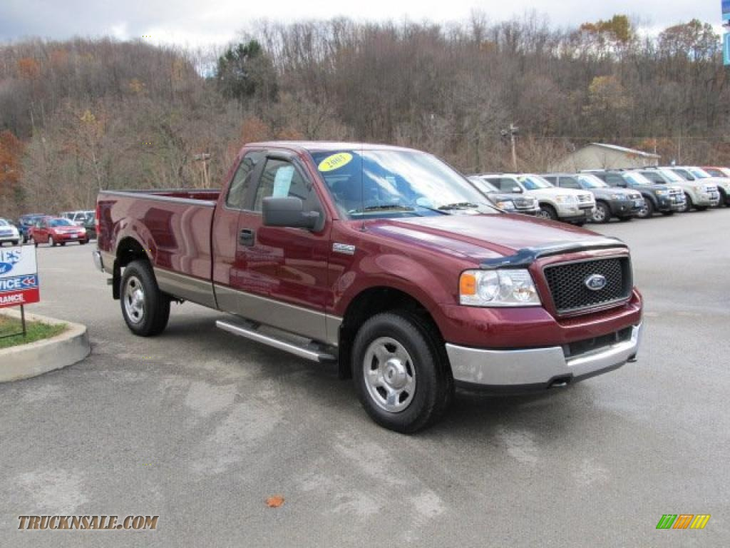 2005 ford f150 xlt regular cab 4x4 in dark toreador red. Black Bedroom Furniture Sets. Home Design Ideas