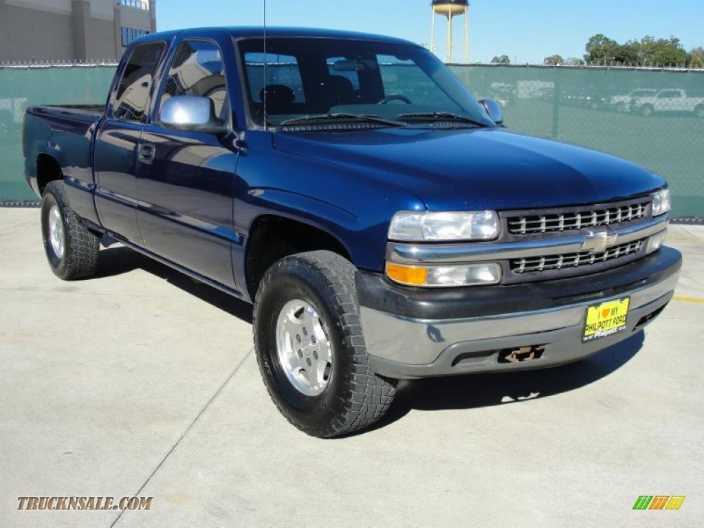 2002 Chevrolet Silverado 1500 Ls Extended Cab In Indigo