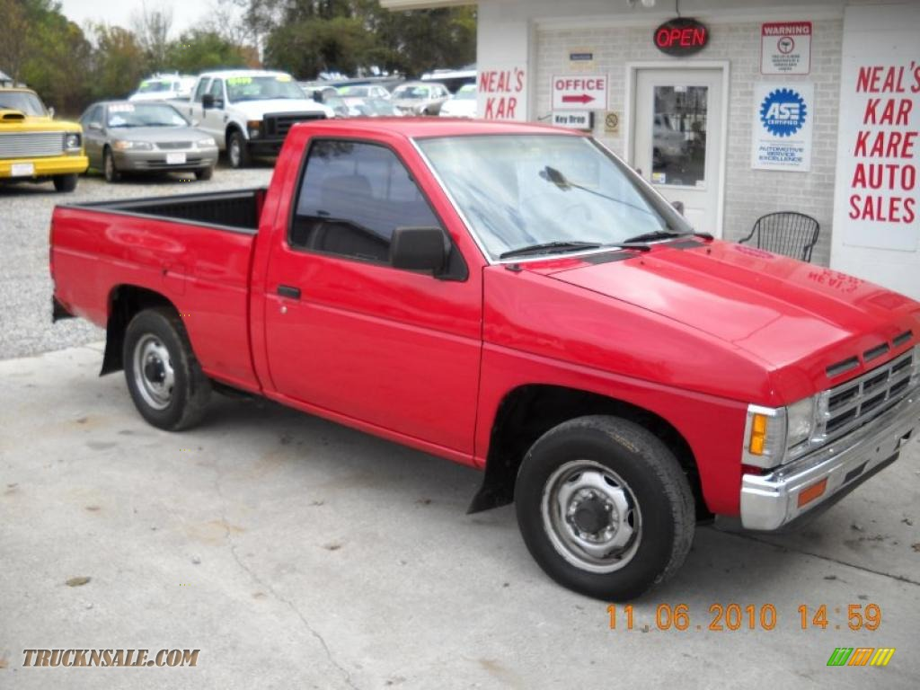 1991 Nissan Hardbody Truck Regular Cab In Aztec Red Photo