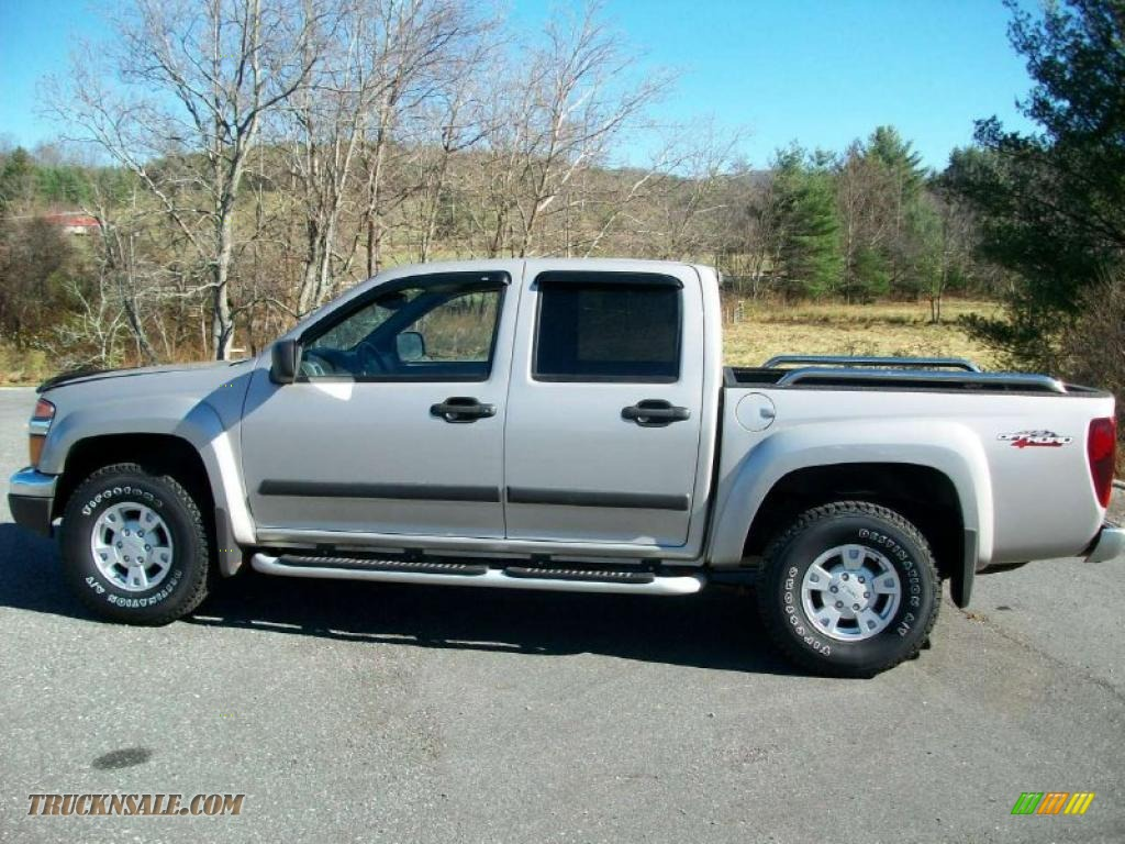 2005 gmc canyon sle crew cab 4x4 in silver birch metallic 104273 truck n 39 sale. Black Bedroom Furniture Sets. Home Design Ideas