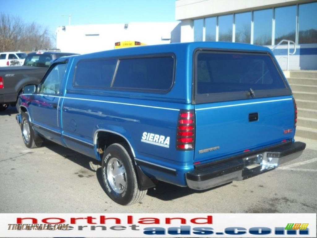 1998 gmc sierra 1500 sle regular cab in bright blue. Black Bedroom Furniture Sets. Home Design Ideas