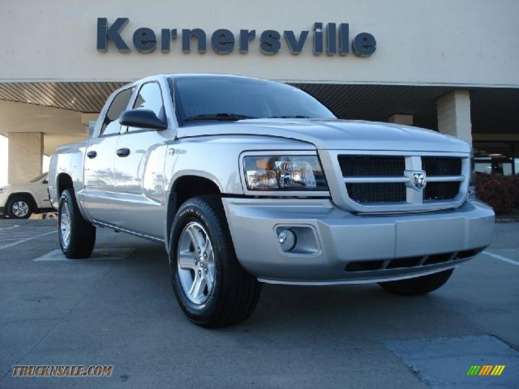 2011 Dodge Dakota Big Horn Crew Cab In Bright Silver