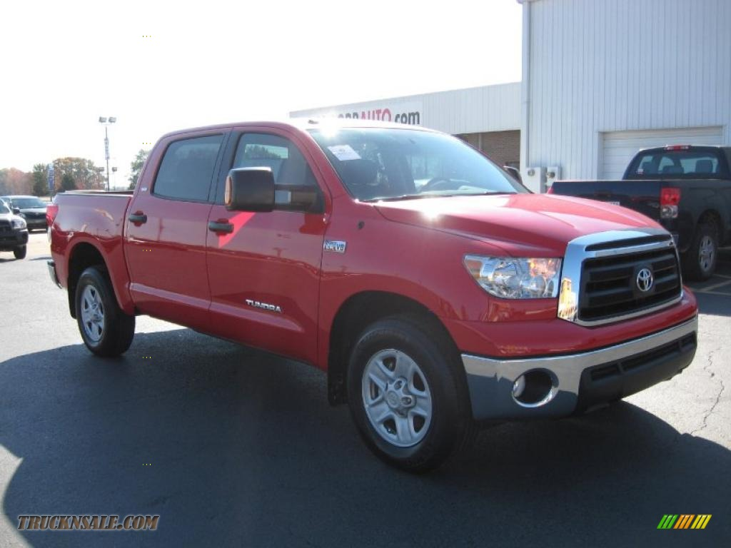 2010 toyota tundra sr5 crewmax in radiant red 095760 truck n 39 sale. Black Bedroom Furniture Sets. Home Design Ideas