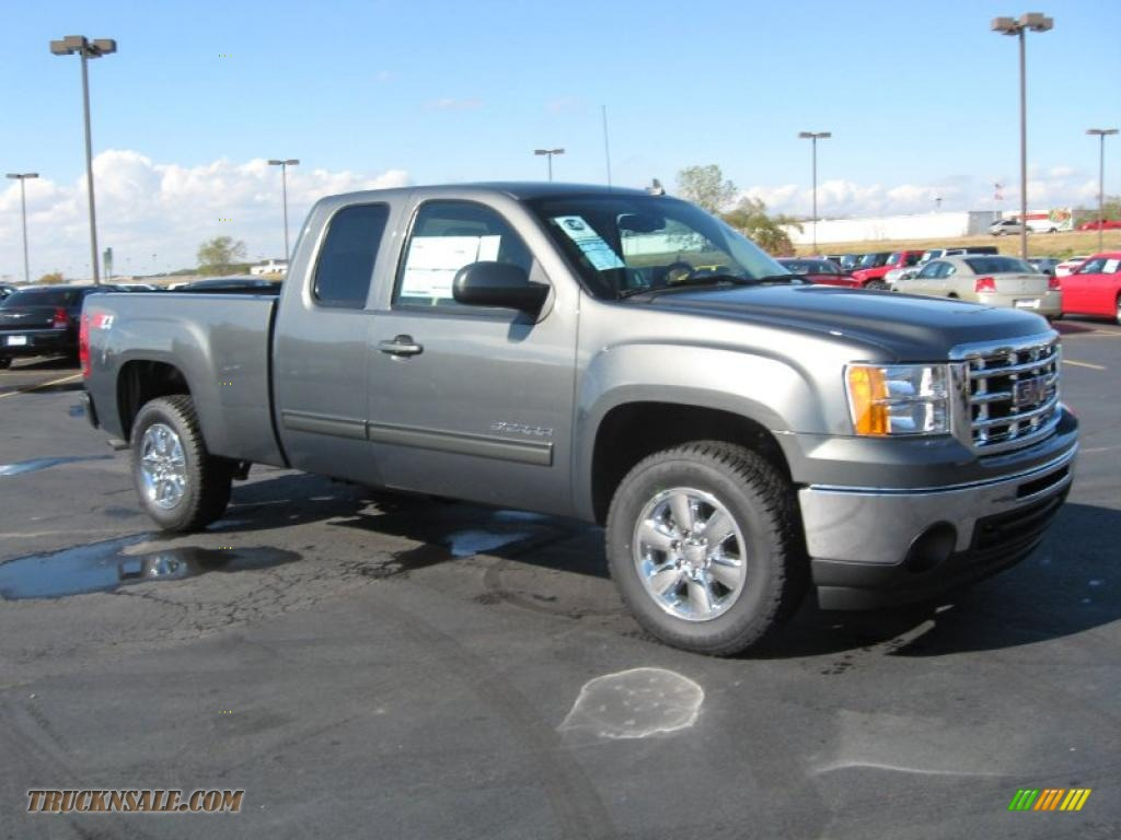 2011 GMC Sierra 1500 SLT Extended Cab 4x4 in Gray Green ...