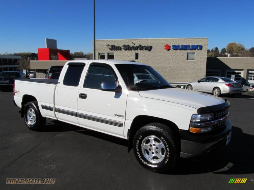 2000 chevrolet silverado 1500 z71 extended cab 4x4 in summit white 391603 truck n 39 sale