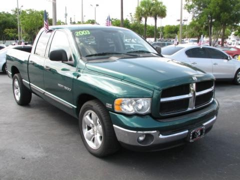 Timberline Green Pearl 2003 Dodge Ram 1500 Laramie Quad Cab