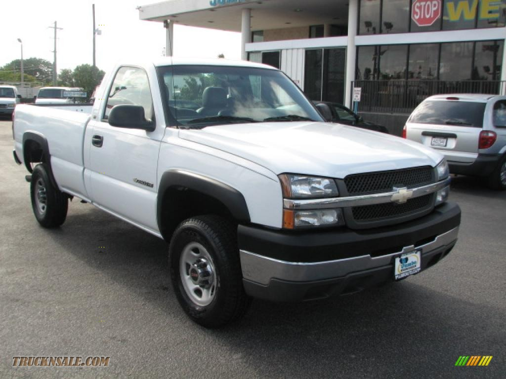2004 chevrolet silverado 2500hd regular cab in summit white 173331 truck n 39 sale. Black Bedroom Furniture Sets. Home Design Ideas