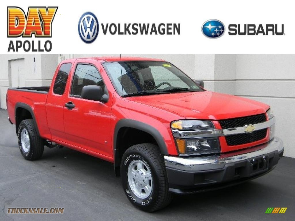 2007 chevrolet colorado lt extended cab 4x4 in victory red