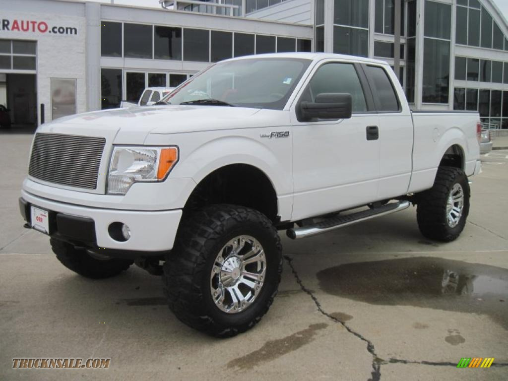 2009 Ford F150 Stx Supercab 4x4 In Oxford White Photo 4