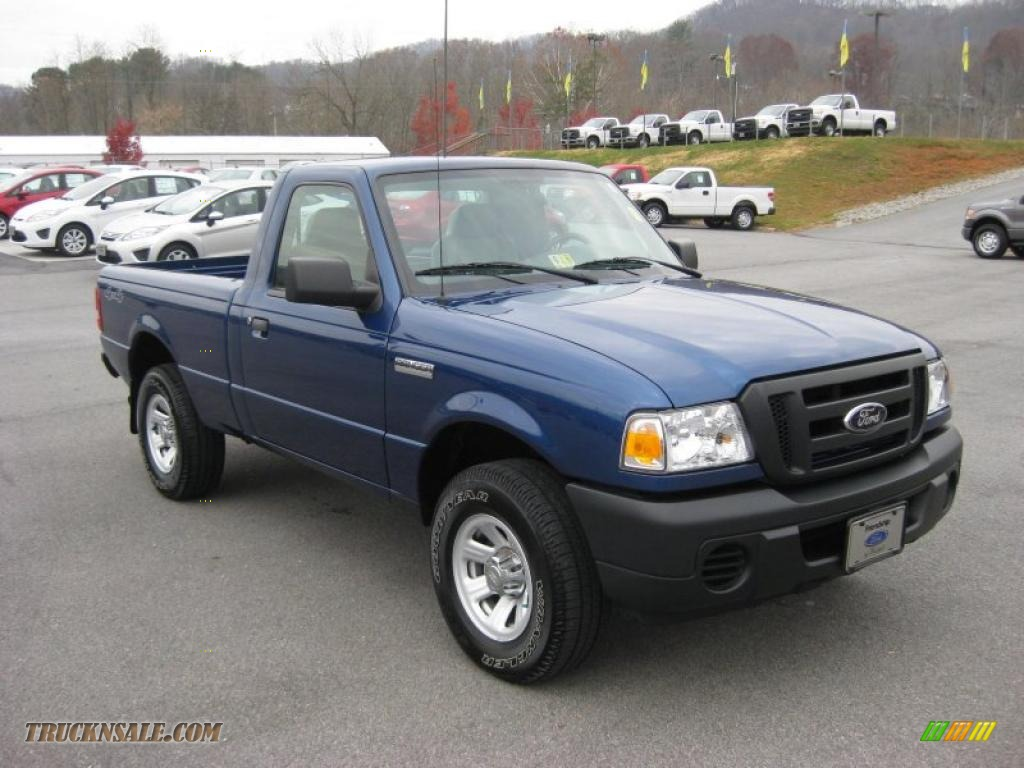 2008 ford ranger xl regular cab 4x4 in vista blue metallic photo 4 a90222 truck n sale